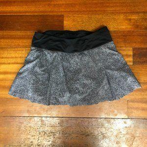 Lululemon Grey Ruffled Tennis Skirt